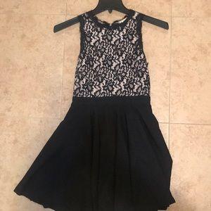 Francesca's black lace dress
